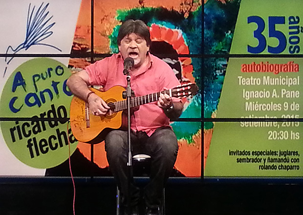 Ricardo Flecha celebrara sus 35 años «apurocanto» con dos conciertos.