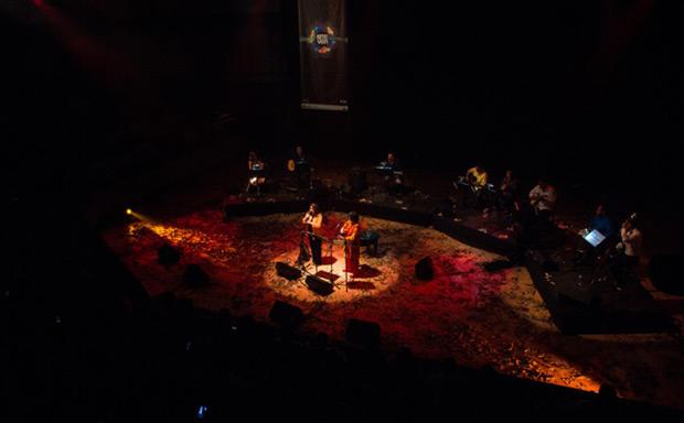 Liuba María Hevia y Cecilia Todd en la sala José Félix Ribas, del Complejo Cultural Teatro Teresa Carreño. © Miguel Pereira