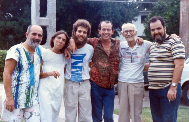 De izquierda a derecha: Germán Piniella, Mariana Rivas, Joel Suárez, Silvio Rodríguez, German Pinelli, Johnny Wildford. © Segunda cita