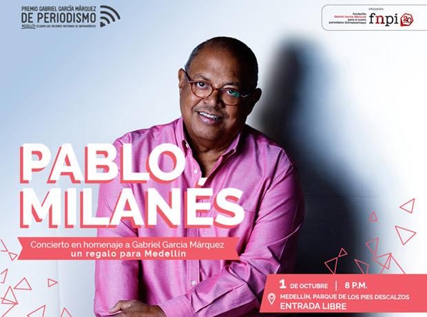Pablo Milanés homenajeará a Gabriel García Márquez en Colombia.