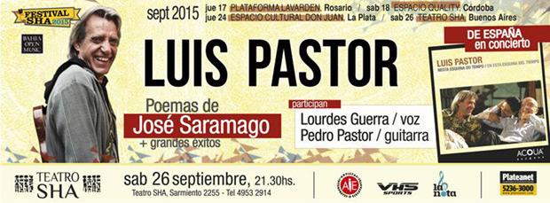 El cantautor Luis Pastor presentará su CD en homenaje a José Saramago en Buenos Aires.