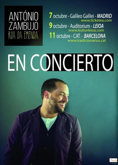 António Zambujo presenta su nuevo trabajo «Rua da Emenda».