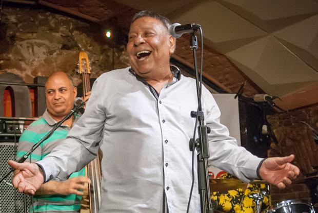 Moncho, en uno de sus últimos conciertos en la Sala Jamoboree de Barcelona en 2014. © Xavier Pintanel