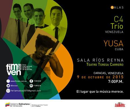C4 Trío y Yusa se presentarán en la tercera gala de FIMVEN.