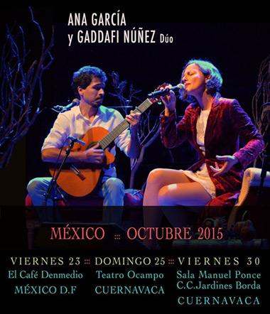 Ana García y Gaddafi Núñez dúo en México.