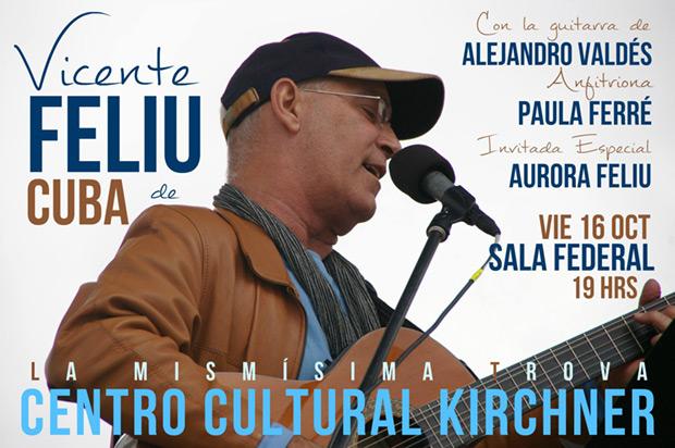 Vicente Feliú presentará su disco en vivo «Al BarnaSants» en Buenos Aires.