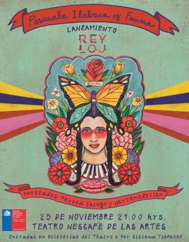 Pascuala Ilabaca y Fauna lanzarán su nuevo disco «Rey Loj» en el Teatro Nescafé de las Artes.