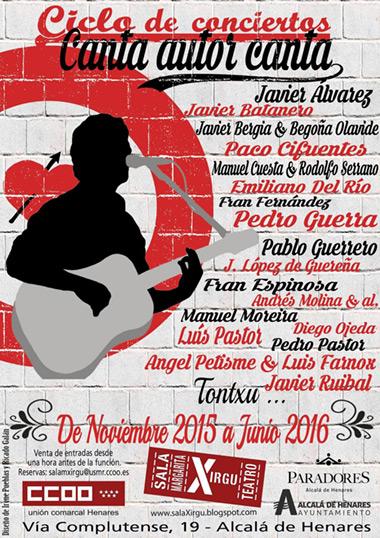 I «Canta autor canta» Alcalá de Henares 2015/2016