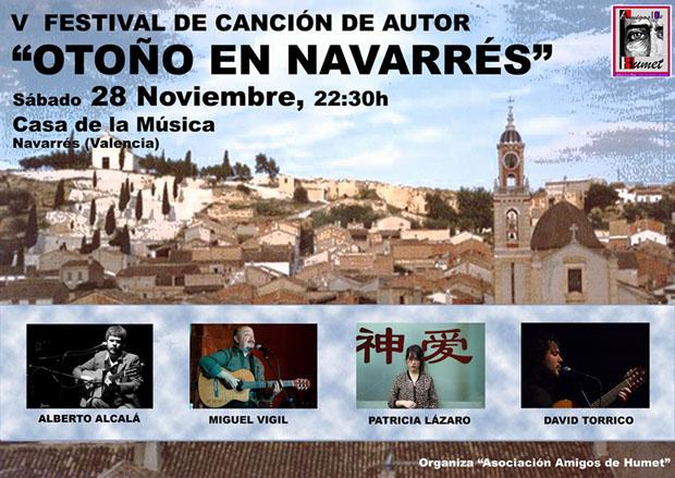 V Festival de Canción de Autor «Otoño en Navarrés» 2015