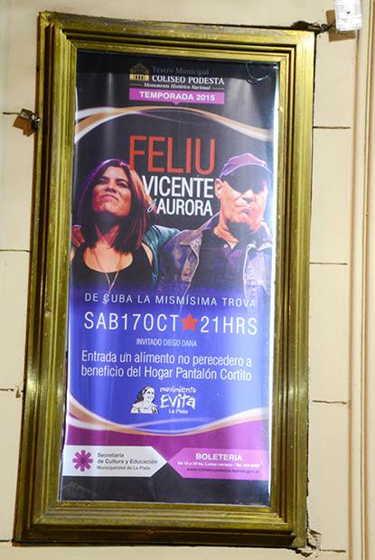 Cartel del concierto. © Kaloian Santos Cabrera