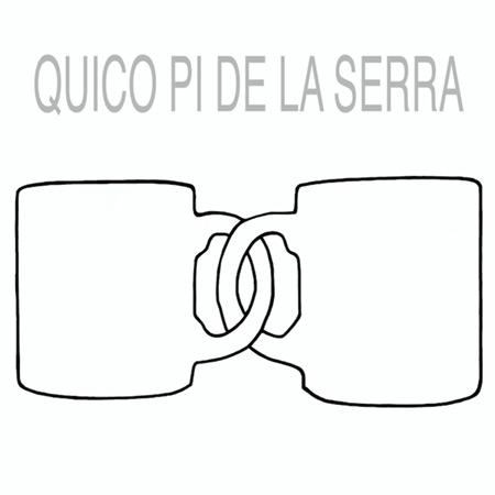 Portada del disco «Dues tasses» de Francesc Pi de la Serra.
