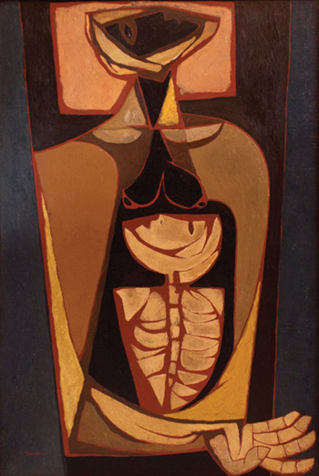 «El Origen», pintura de Oswaldo Guayasamín. © Fundación Guayasamín