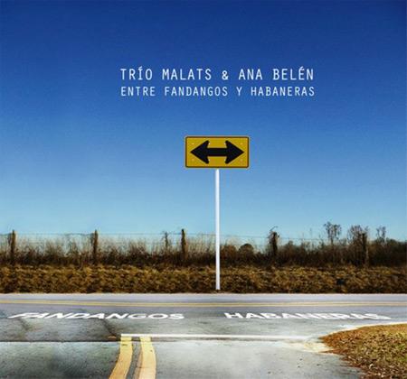Portada del disco «Entre fandangos y habaneras» del Trío Malats y Trío Malats.
