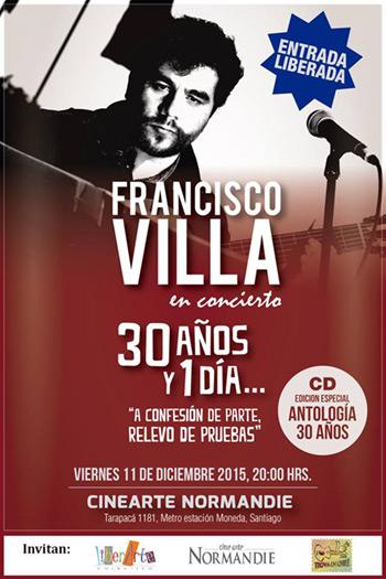 Francisco Villa celebra 30 años de música.