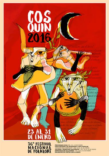 Cartel del 56 Festival de Folclore de Cosquín 2016.