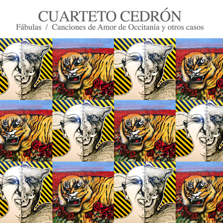 Portada de la reedición de los discos «Fábulas» y «Canciones de amor de Occitania y otros casos» de Cuarteto Cedrón.