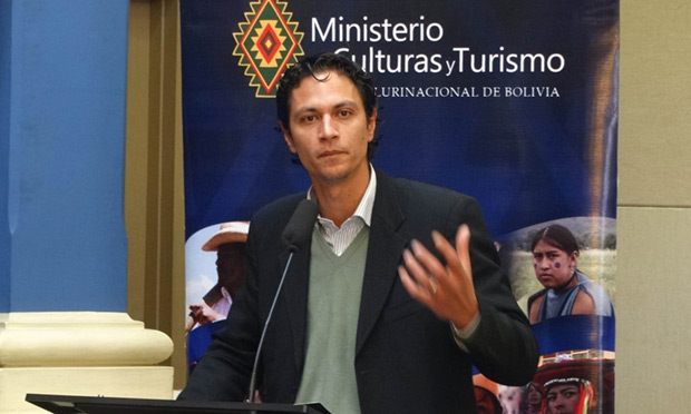 Marko Machicao, ministro de Culturas y Turismo del gobierno boliviano. © Ministerio de Culturas y Turismo