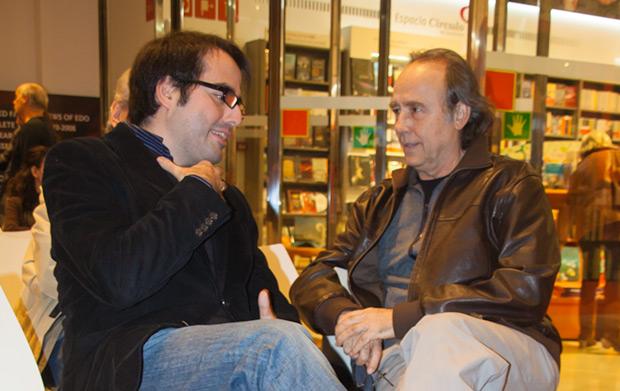 Luis García Gil con Joan Manuel Serrat © Xavier Pintanel