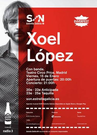 Xoel López en el Price de Madrid.