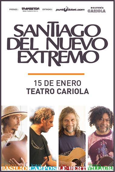 Santiago del Nuevo Extremo lanza «Castillo Sonoro», su séptimo trabajo en el Teatro Cariola.