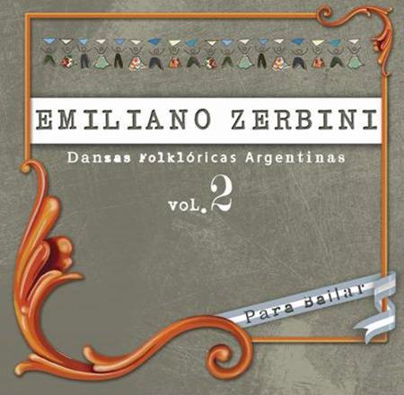 Portada del disco «Danzas Folclóricas Argentinas Vol II» de Emiliano Zerbini.