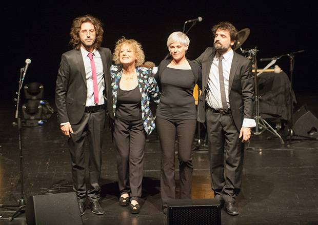 De izquierda a derecha: Xavi Lloses, Marina Rossell, Núria Andorrà y Joan Motera. © Xavier Pintanel