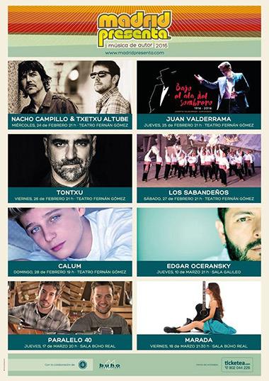 VI ciclo de conciertos madridpresenta 2016.