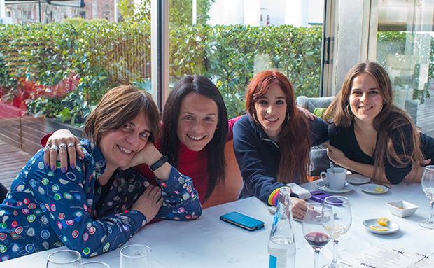 De izquierda a derecha: Sílvia Comes, Montse Castellà, Ivette Nadal y Meritxell Gené. © Xavier Pintanel
