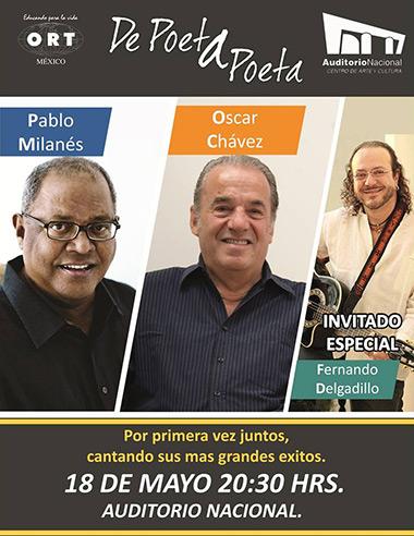Pablo Milanés, Óscar Chávez y Fernando Delgadillo juntos por única vez en «De poeta a poeta».