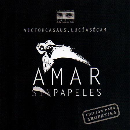 Portada del disco «Amar sin papeles» de Víctor Casaus y Lucía Sócam.