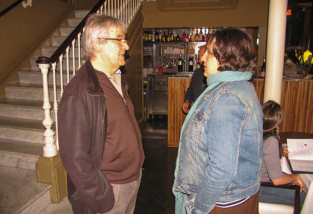 Rafael Moll y Jessi Pérez: dos generaciones de mánagers unidos por la obra de Gato Pérez. © Manel Gausachs