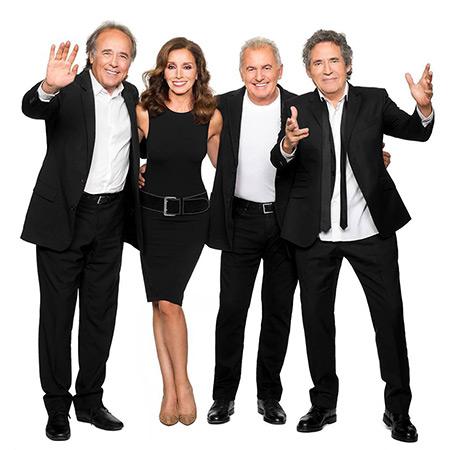 Joan Manuel Serrat, Ana Belén, Víctor Manuel y Miguel Ríos en «El Gusto Es Nuestro 20º Aniversario».