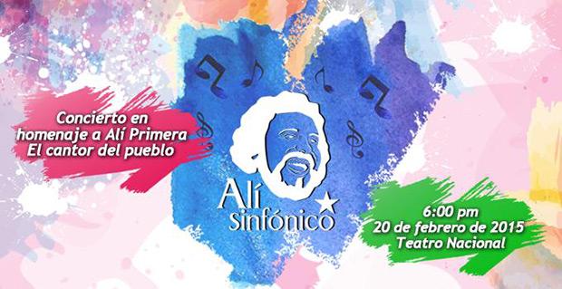 Concierto «Alí Sinfónico» rendirá homenaje al cantor del pueblo este fin de semana.