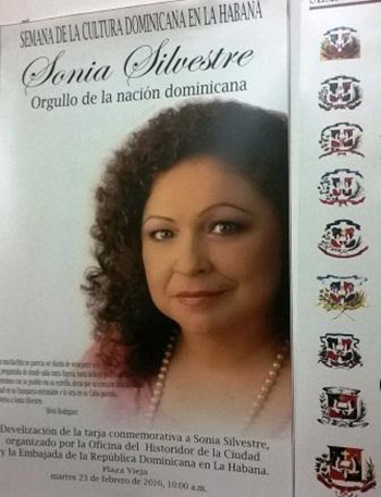 Homenaje en Cuba a Sonia Silvestre.