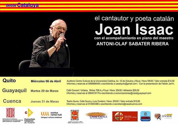 Joan Isaac regresa al Ecuador.