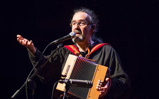 Bieito Romero, líder de Luar Na Lubre. © Xavier Pintanel