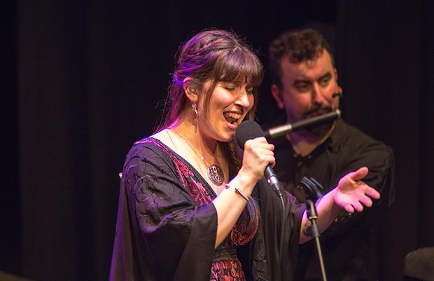 Paula Rey, la cantante de Luar Na Lubre. © Xavier Pintanel