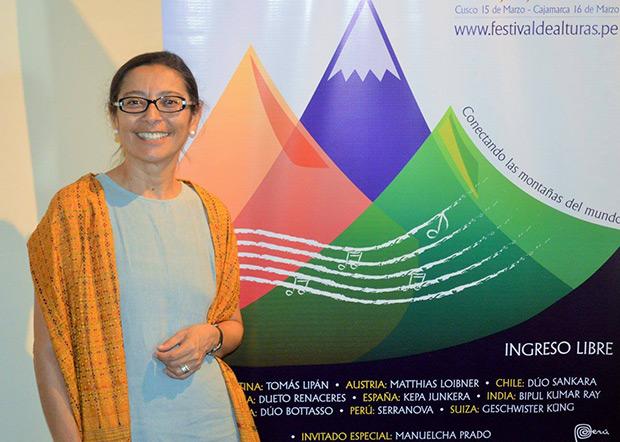 Liana Cisneros, directora del Festival Internacional de Música de Alturas. © Beatriz Cabrejos