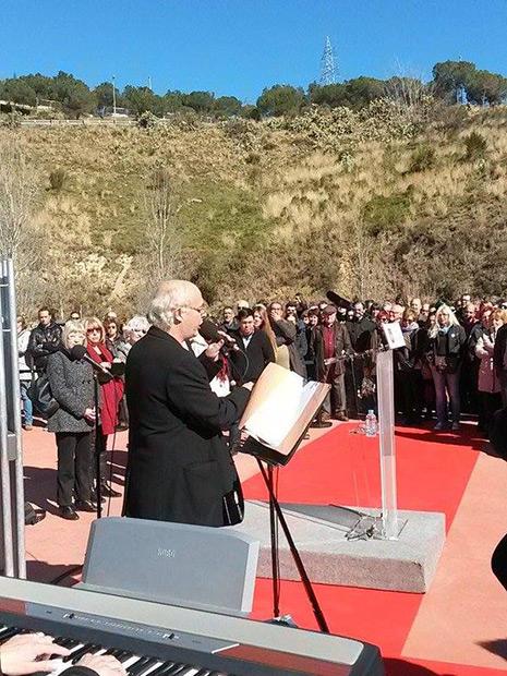 Joan Isaac en el homenaje a Salvador Puig Antich.