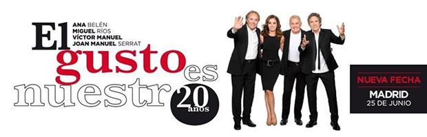Ana Belén, Serrat, Miguel Ríos y Víctor Manuel anuncian un segundo concierto en Madrid.