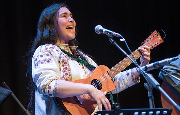 Rosa Sánchez en el festival BarnaSants. © Xavier Pintanel