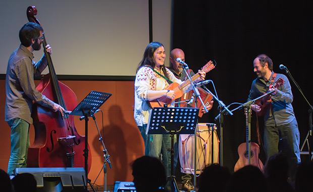 De izquierda a derecha: Oriol Roca, Rosa Sánchez, Ilio Amisano y Héctor Serrano. © Xavier Pintanel