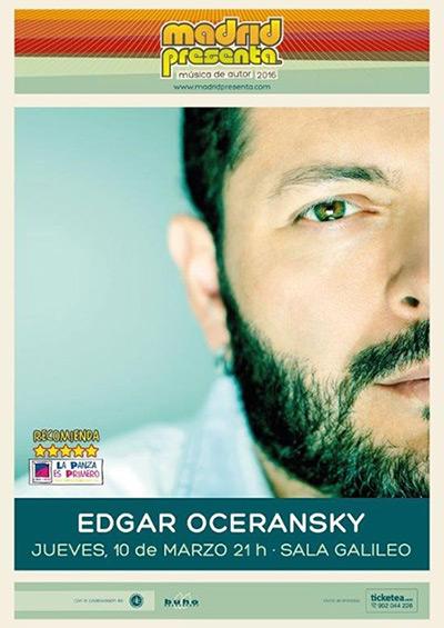Edgar Oceransky en el Festival Madridpresenta.