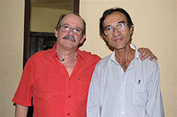 Silvio Rodríguez y René Urquijo.