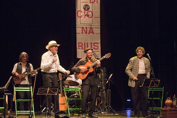 Quico el Célio, el Noi y el Mut de Ferreries presentaron en primicia las canciones del que será su próximo trabajo discográfico «No tinc diners!». © Xavier Pintanel