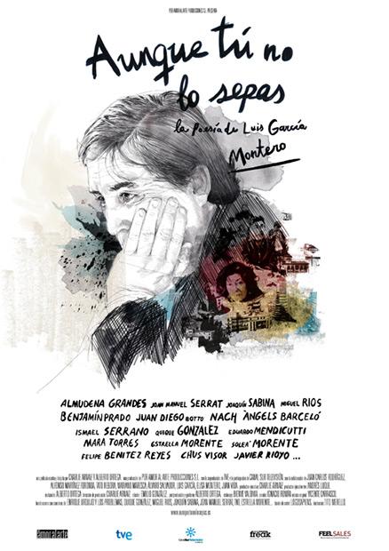Cartel de la película «La poesía de Luis García Montero» de Charlie Arnaiz y Alberto Ortega.