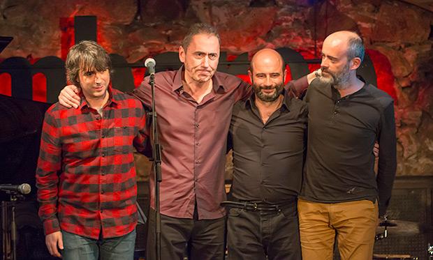 De izquierda a derecha: Mikel Azpiroz, Jabier Muguruza, Ignasi González y David Gómez. © Xavier Pintanel