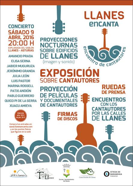 Cartel de «Llanes Encanta».