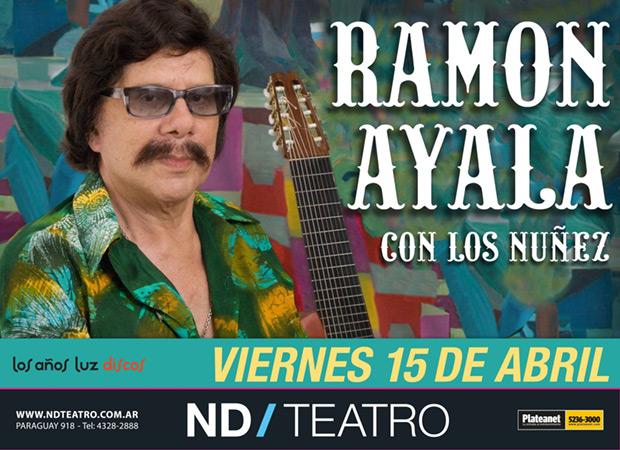 Ramón Ayala en el ND Teatro de Buenos Aires.