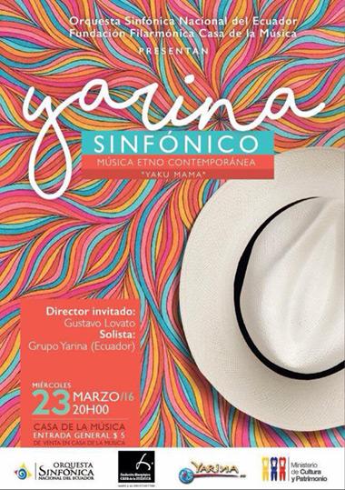 «Yakumama, Madre Agua, fuente de vida» Yarina con la Orquesta Sinfónica Nacional de Ecuador.